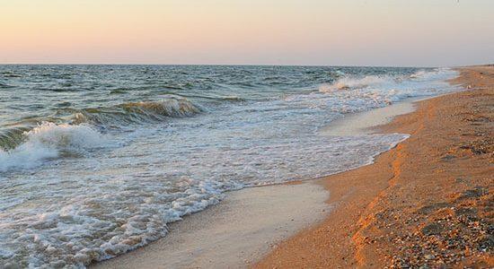 Фото Азовского моря в Счастливцево