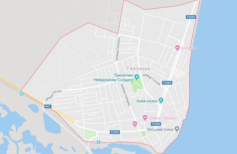 Геническ, Азовское море